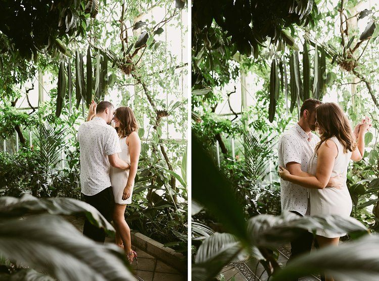 conservatory of flowers golden gate park engagement session
