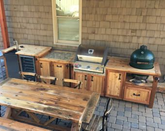 Outdoor Küche Kamado Joe : Custom grill tables for kamado joe big green egg primo and dual or