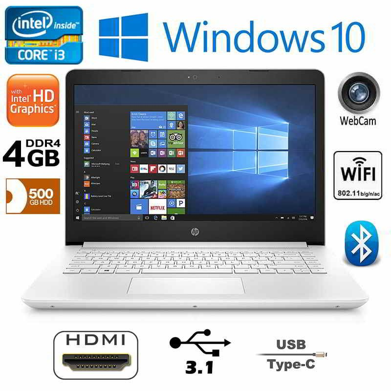 Hp Notebook 14 Bp060sa Intel I3 4gb Ram 500gb Hdd Hdmi White Hdmi Intel 4gb Ram