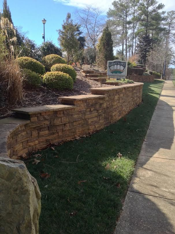 Check Out Our Heritage Wall Block On Display At Garden Supply Co.