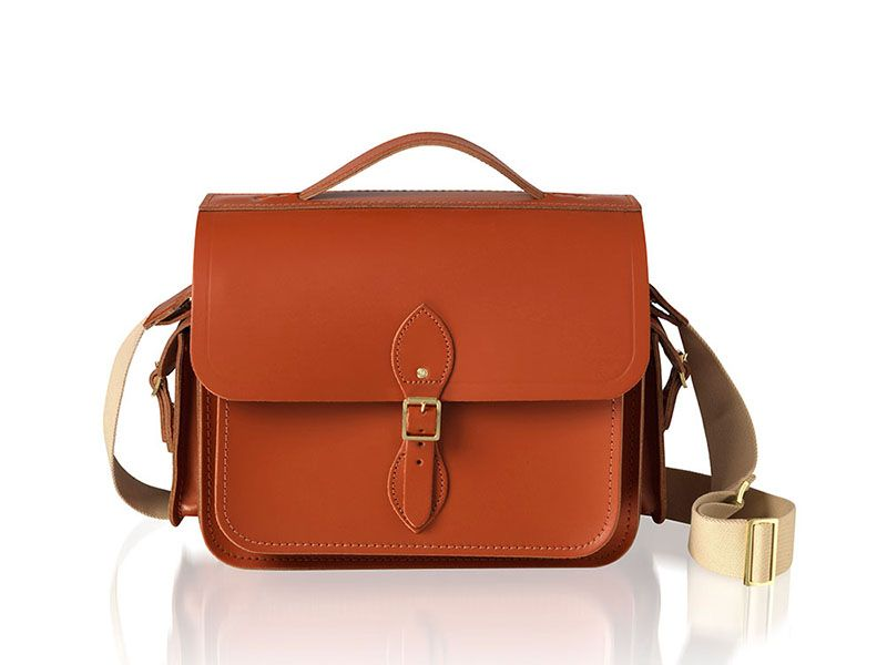 The Large Cartridge Bag With Side Pockets Cambridge Satchel
