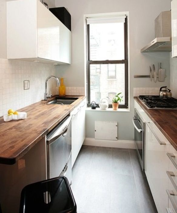 Narrow Galley Kitchen Designs: Déco Maison In 2019