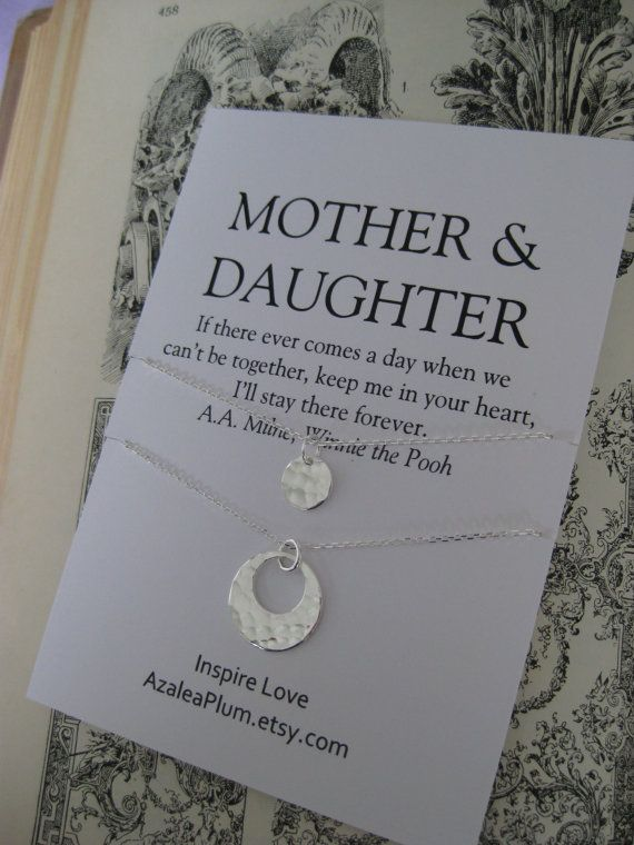 MOTHER Daughter Necklace 50th Birthday Gift By ShopAzaleaPlum