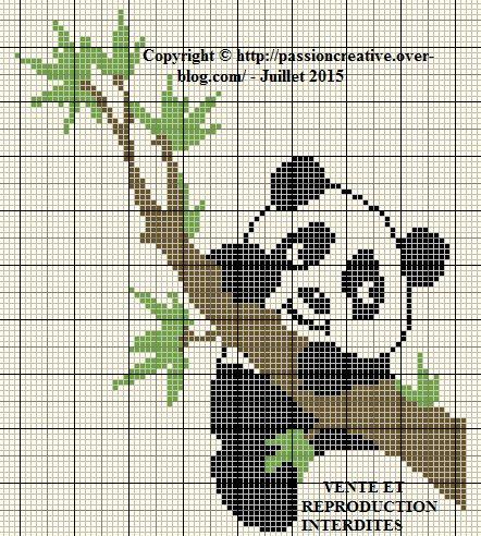 Grille gratuite point de croix panda sur branche borduren plaatsen om te bezoeken en plaatsen - J ai bien dormi ...