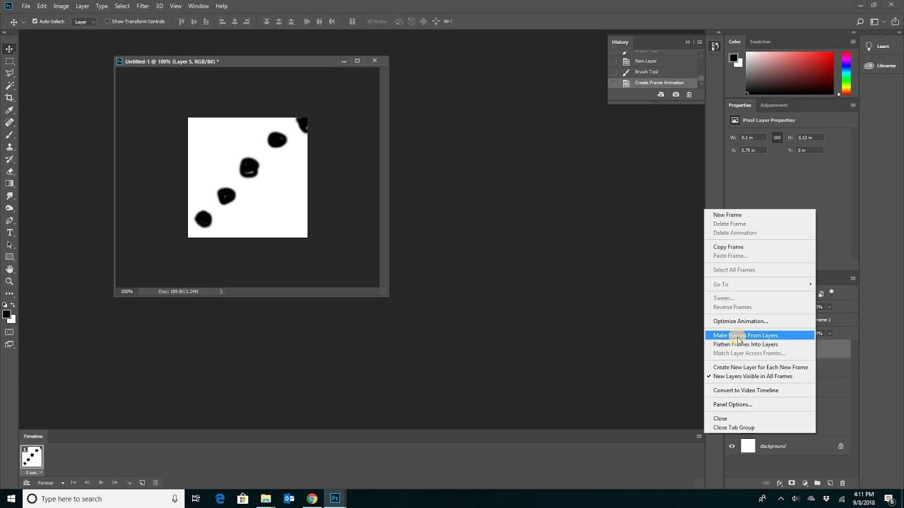 How To Animate In Photoshop Using Timeline Frame Animation In Photoshop Photoshop Frame