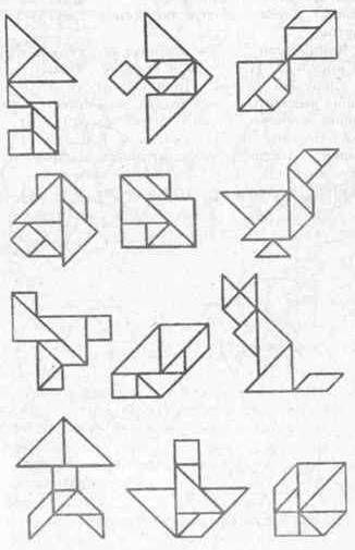 Схемы для игры танграм