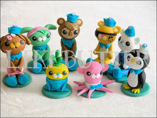 Hunters cake guys 3D Mini Fondant Octonauts Inspired Cake Toppers by