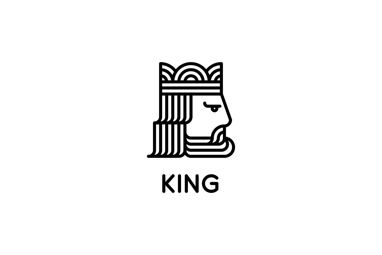 King Logo Geometric Logo Design Instagram Logo