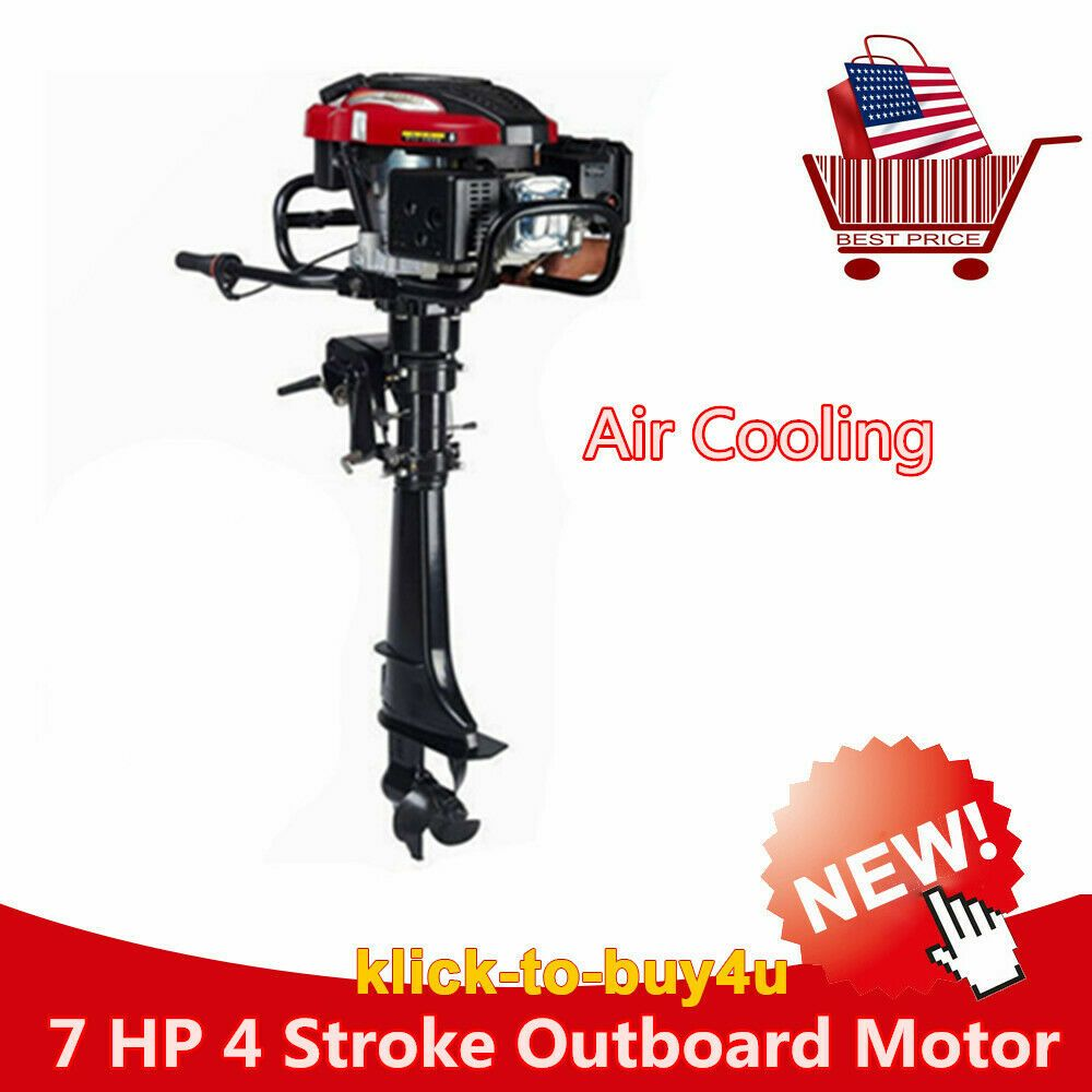Ebay Sponsored 7 Hp 4 Stroke 5 1kw Outboard Motor Boat Engine Updated W Air Cooling System Outboard Motors Motor Boats Outboard