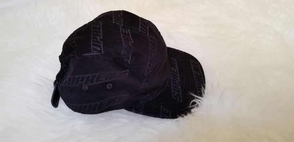 b8af0ee7030 Supreme Embossed Logo Corduroy Camp Cap SS18 BLACK  fashion  clothing   shoes  accessories  unisexclothingshoesaccs  unisexaccessories (ebay link)