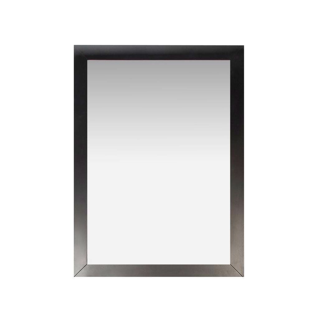 Black bathroom vanity 30 22 - Modern 22 Inch X 30 Inch Bathroom Vanity Wall Mirror With Black Wood Frame