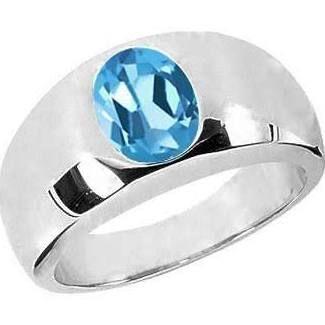 Blue Topaz Blue Topaz Ring Blue Topaz Faceted 925 Sterling Silver Blue Topaz Genuine Ring Blue Topaz Jewelry