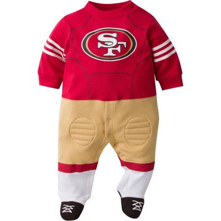76d33afe5 NFL San Francisco 49ers Baby Boys Team Uniform Footysuit with Cleats ...