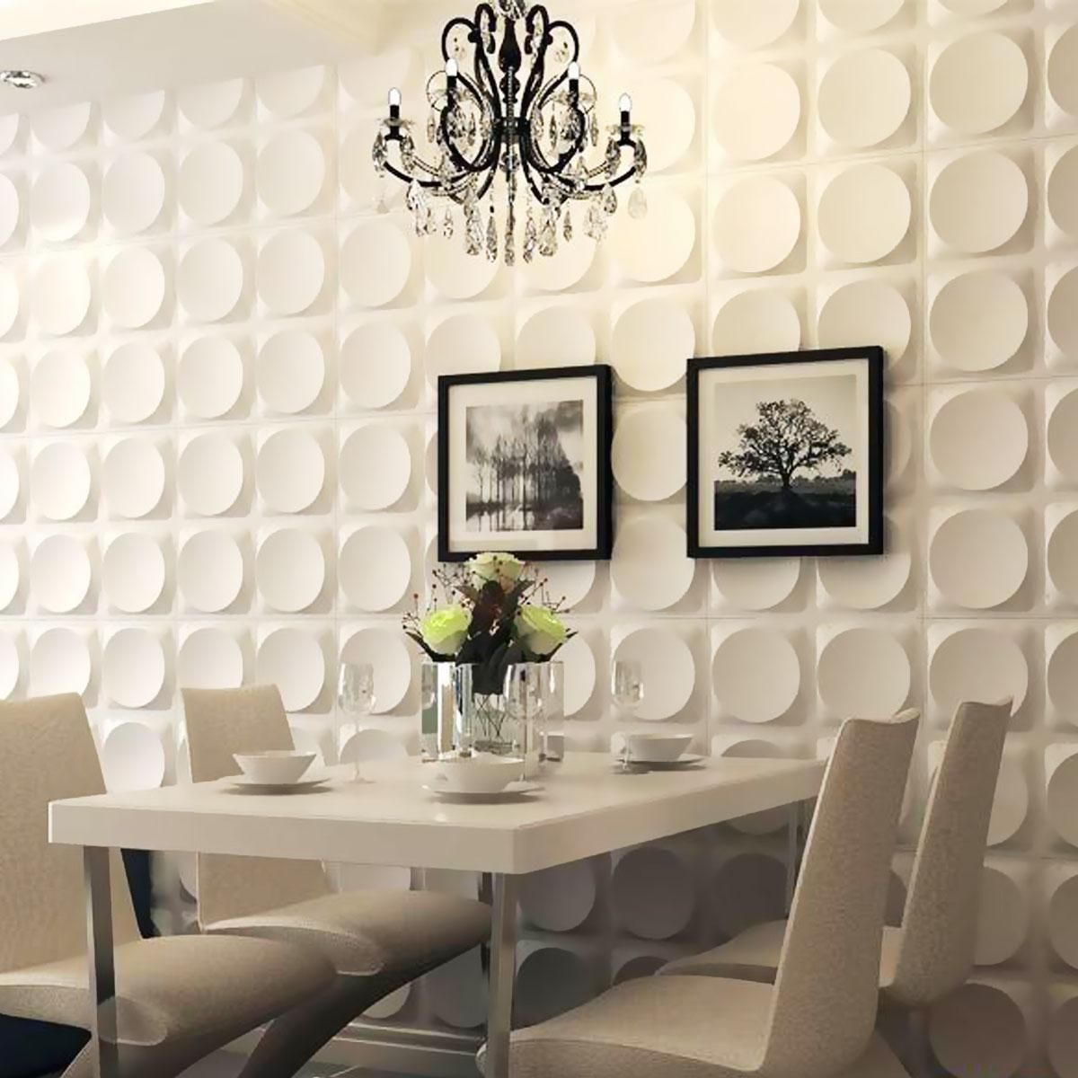 19 5 8 Inch W X 19 5 8 Inch H Adonis Endurawall Decorative 3d Wall Panel White Plastic Wall Panels 3d Wall Panels Wall Paneling
