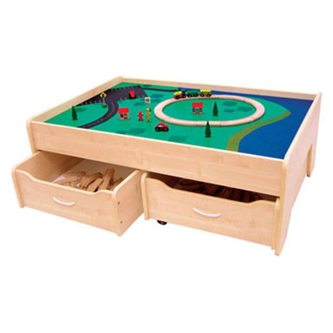 Wooden Train Table In Natural By Kidkraft Personalize