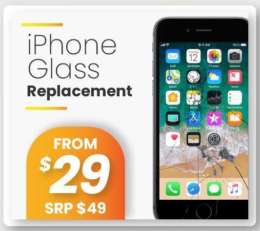 iPhone screen repair at DrGeek. Visit our shop at at 03