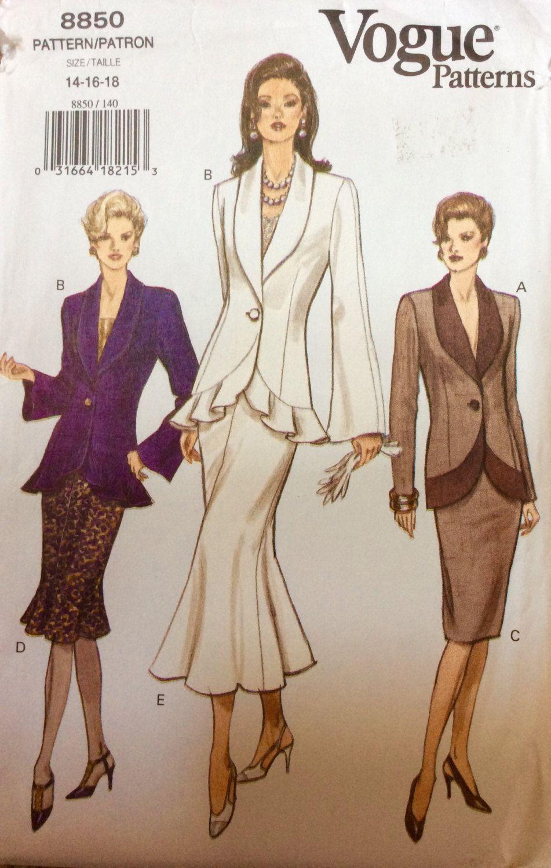Vogue 8850 uncut very easy misses top skirt vogue patterns clothing jeuxipadfo Choice Image