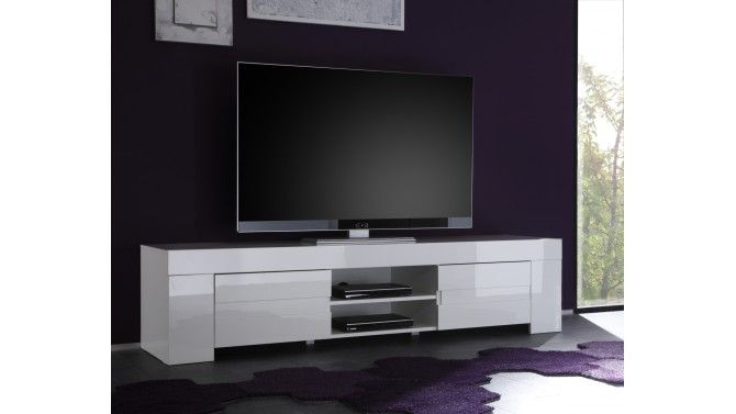 TV design blanc 190 cm - Konrad