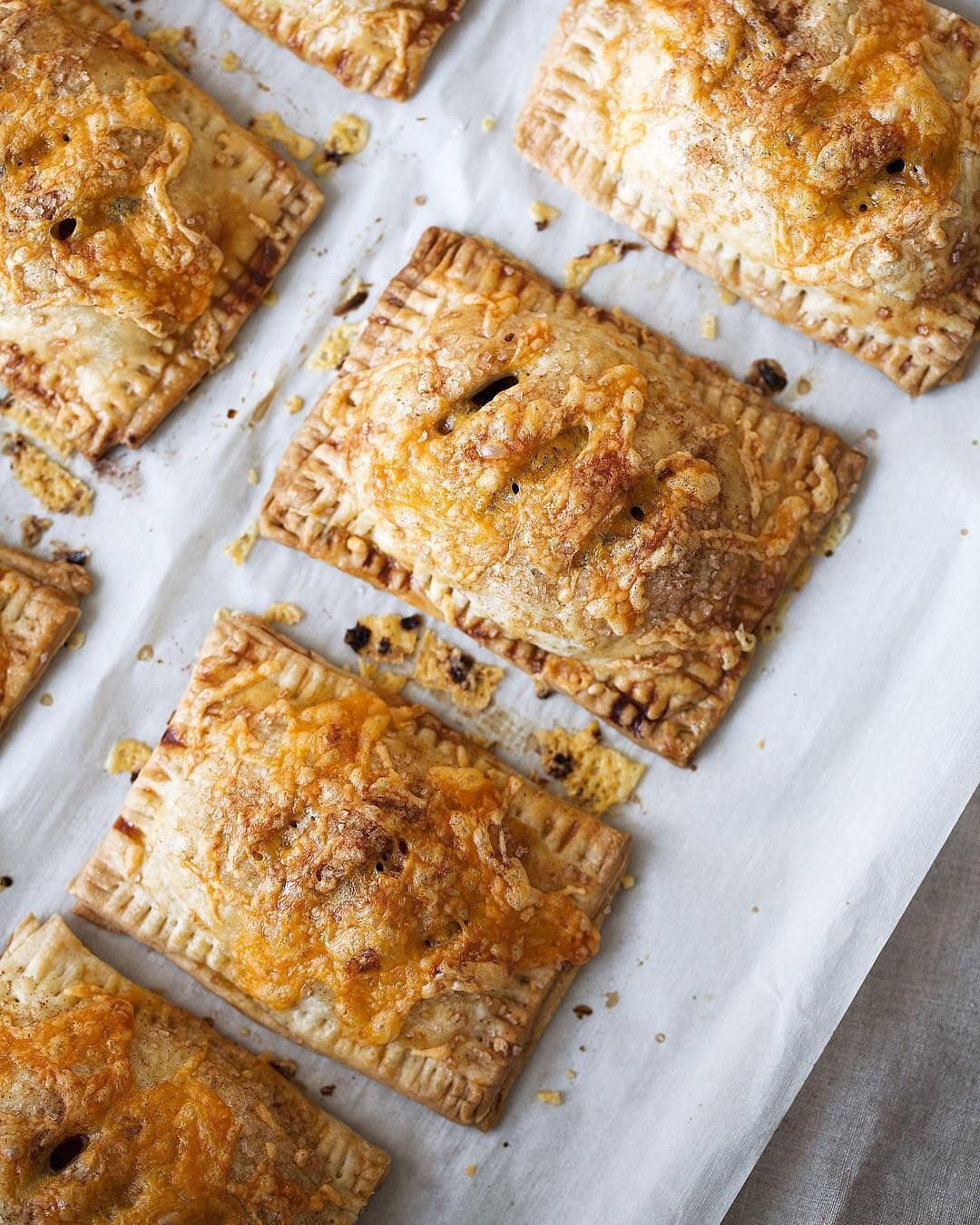 Sweet & savory combo: @cookingwithcocktailrings apple cheddar hand pies . Got a favorite snack hack? Share yours with #MyPinterest