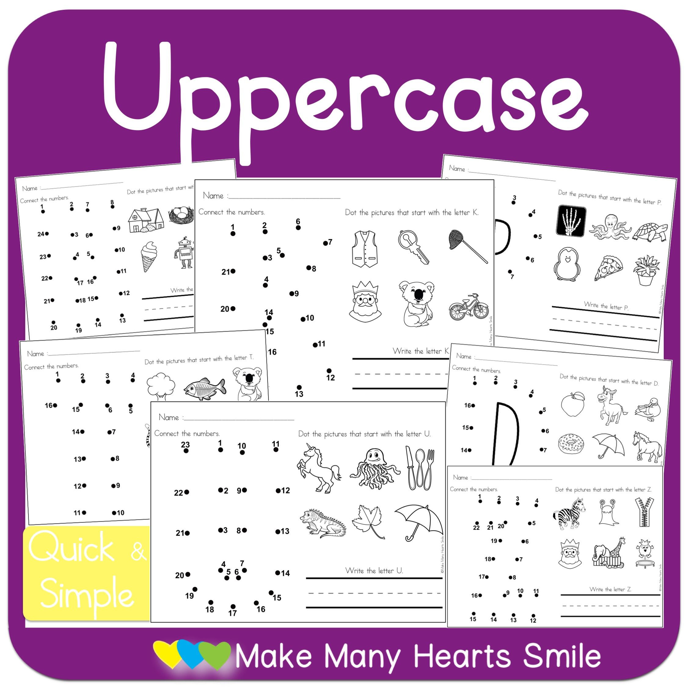 Dot To Dot Uppercase Letters Mmhs25