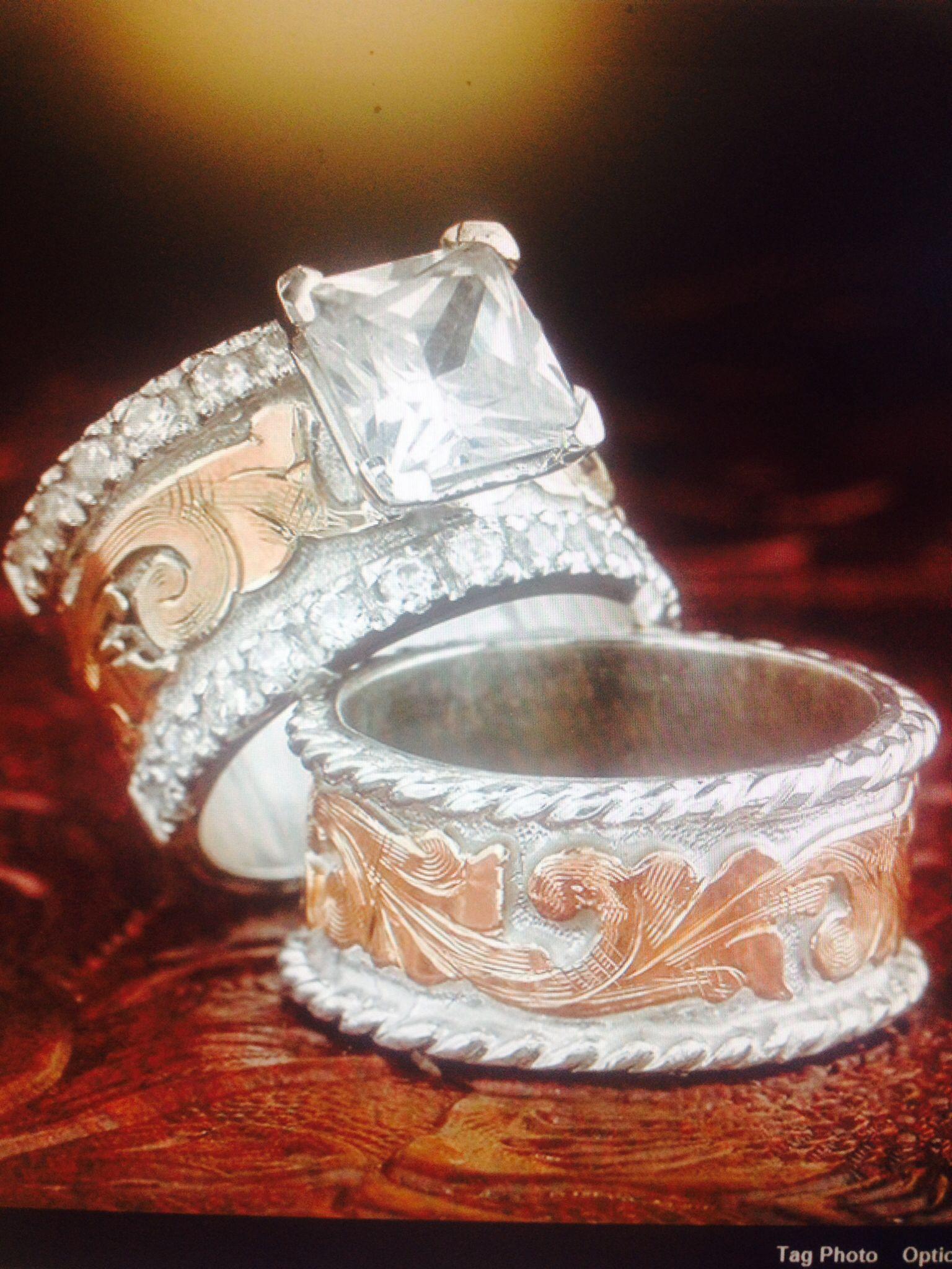 Western wedding set Fanning Jewelry Jewelry wedding