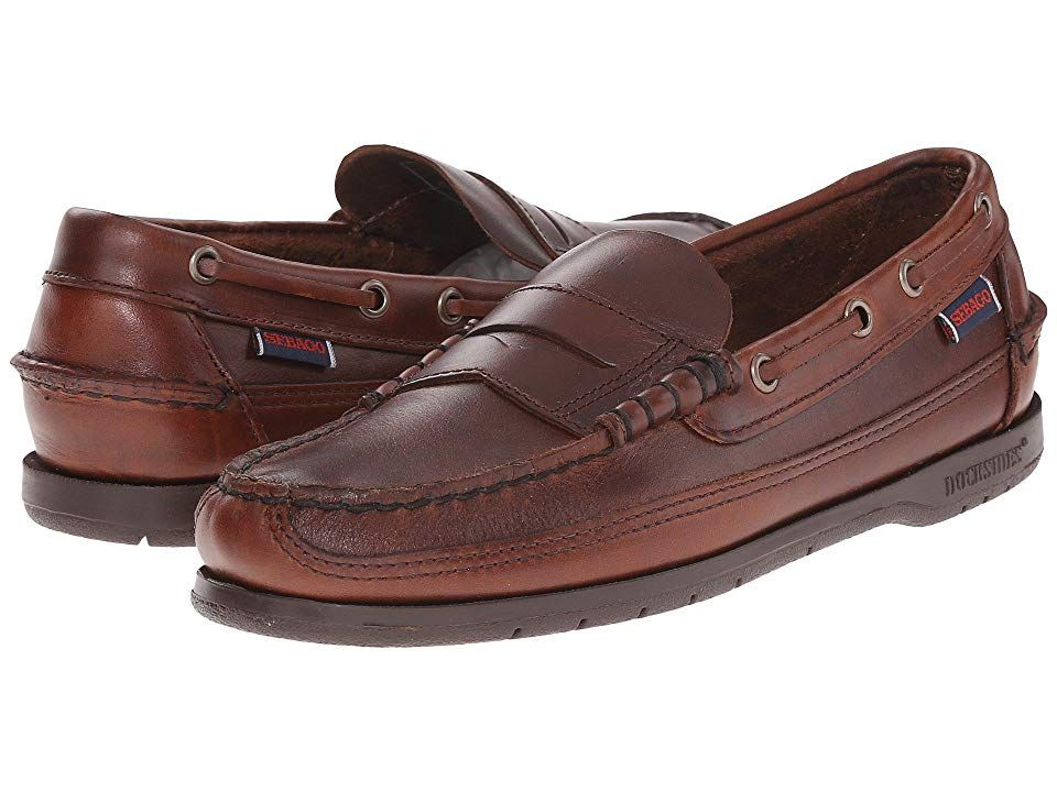 91d02ca51d30 Sebago Sloop (Brown) Men s Slip on Shoes. The Sloop leather boat shoe is a  perfect example of comfort meets class. Slip into a pair of these to feel  the ...