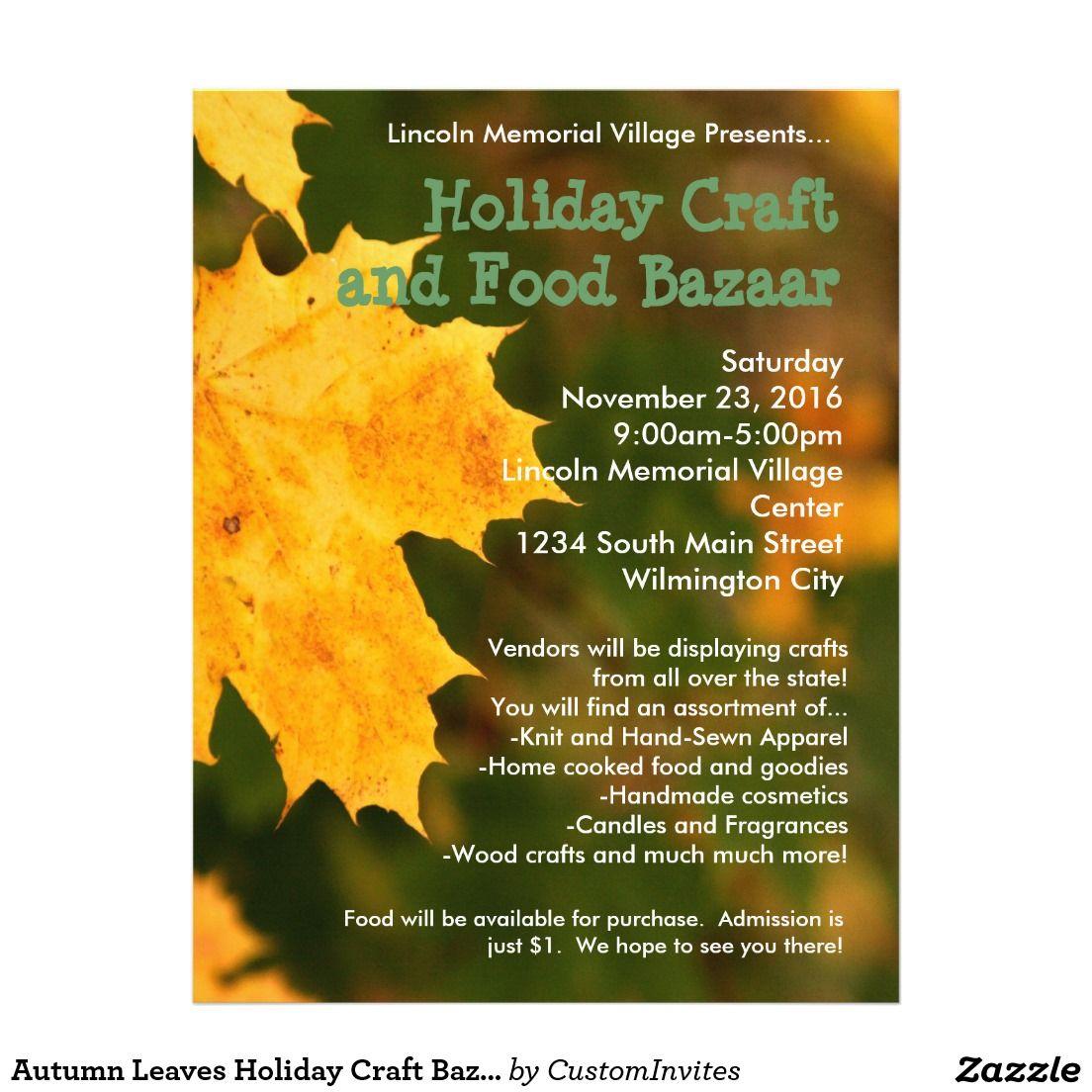 fall bazaar flyer template