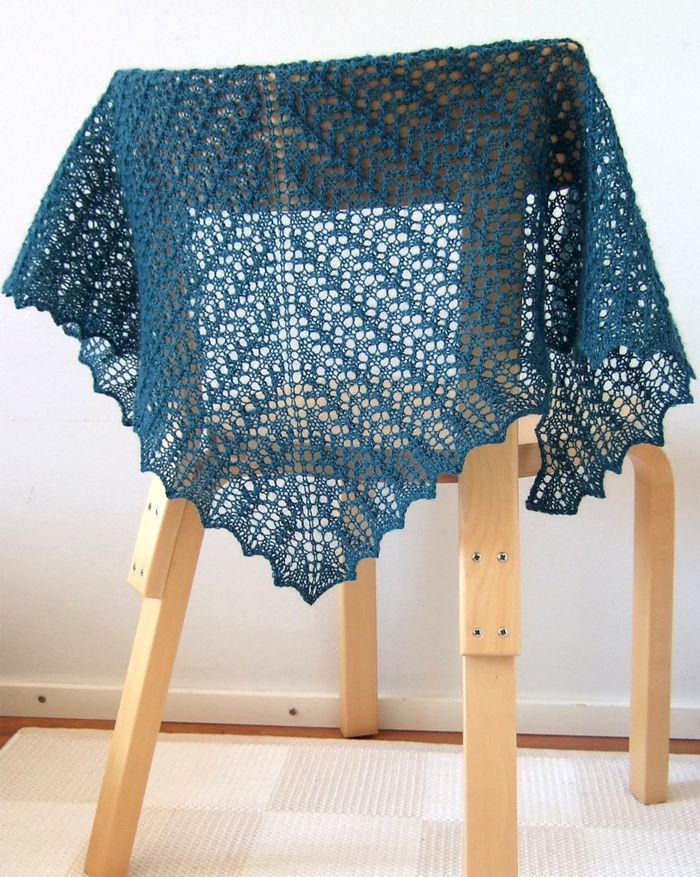 Free Knitting Pattern for Little Arrowhead Shawl - This lace shawl ...