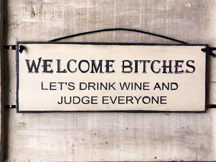 Gift for her. Kitchen Sign. Funny Sign. Funny Gift. Welcome Bitches. Girlfriend Gift. Best Friend Gift. Funny Gift for Her. Wine Lovers Gift #funnygifts