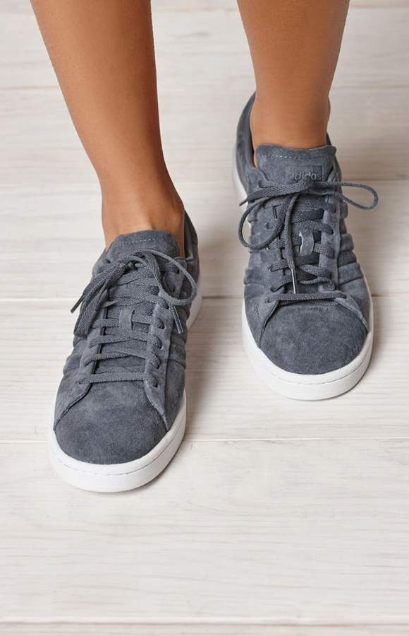 size 40 ebaf9 ea72b adidas Womens Gray Campus Stitch And Turn Sneakers