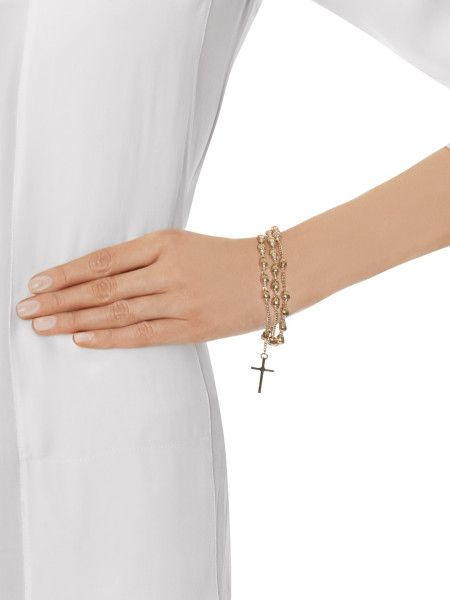 Givenchy Skull Rosary Chain Bracelet In Gold Lyst