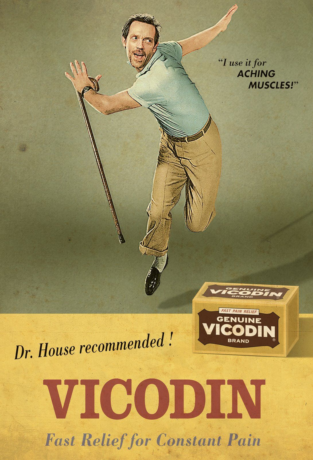 Dr. House Recommended! Vicodin: Fast relief for constant pain!
