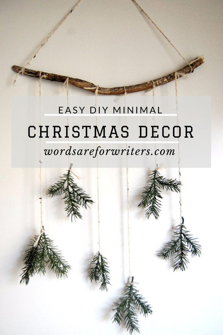 diy minimal christmas decor images
