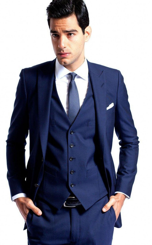 2017 Newest Groom Tuxedos Notch Lapel Groomsmens Suit Best Man ...