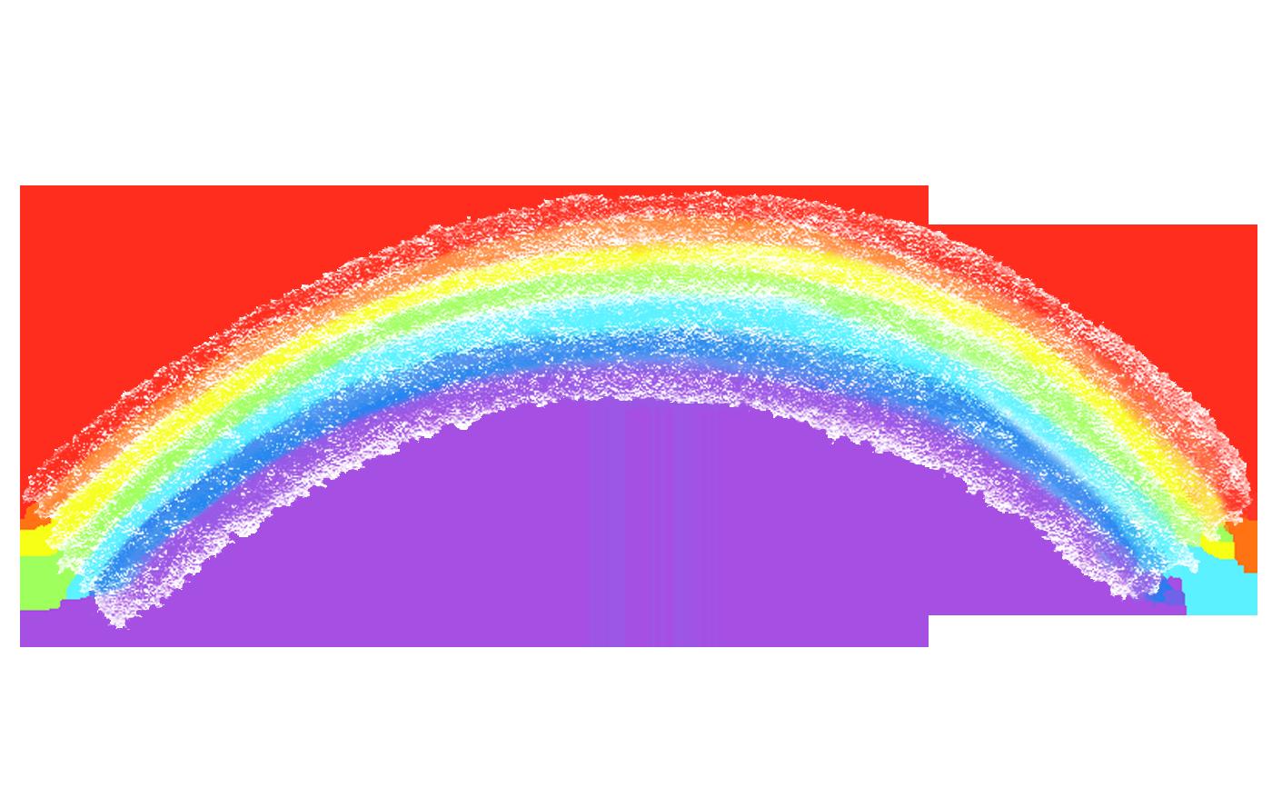 手書きのクレヨンの虹イラスト アイディア2019 虹 イラスト