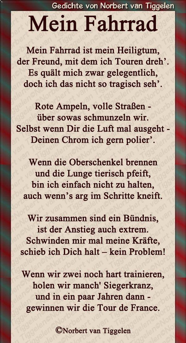 Pin Von El Schmidt Auf Malen Fahrrad Spruch Fahrrad Gedichte