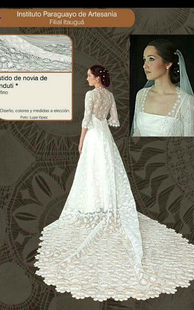 vestido de novia en ñandutí | encajes | pinterest | lace weddings