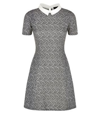 Womens Fit and Flare Short Sleeve Skater Dress New Look ivEzozGf