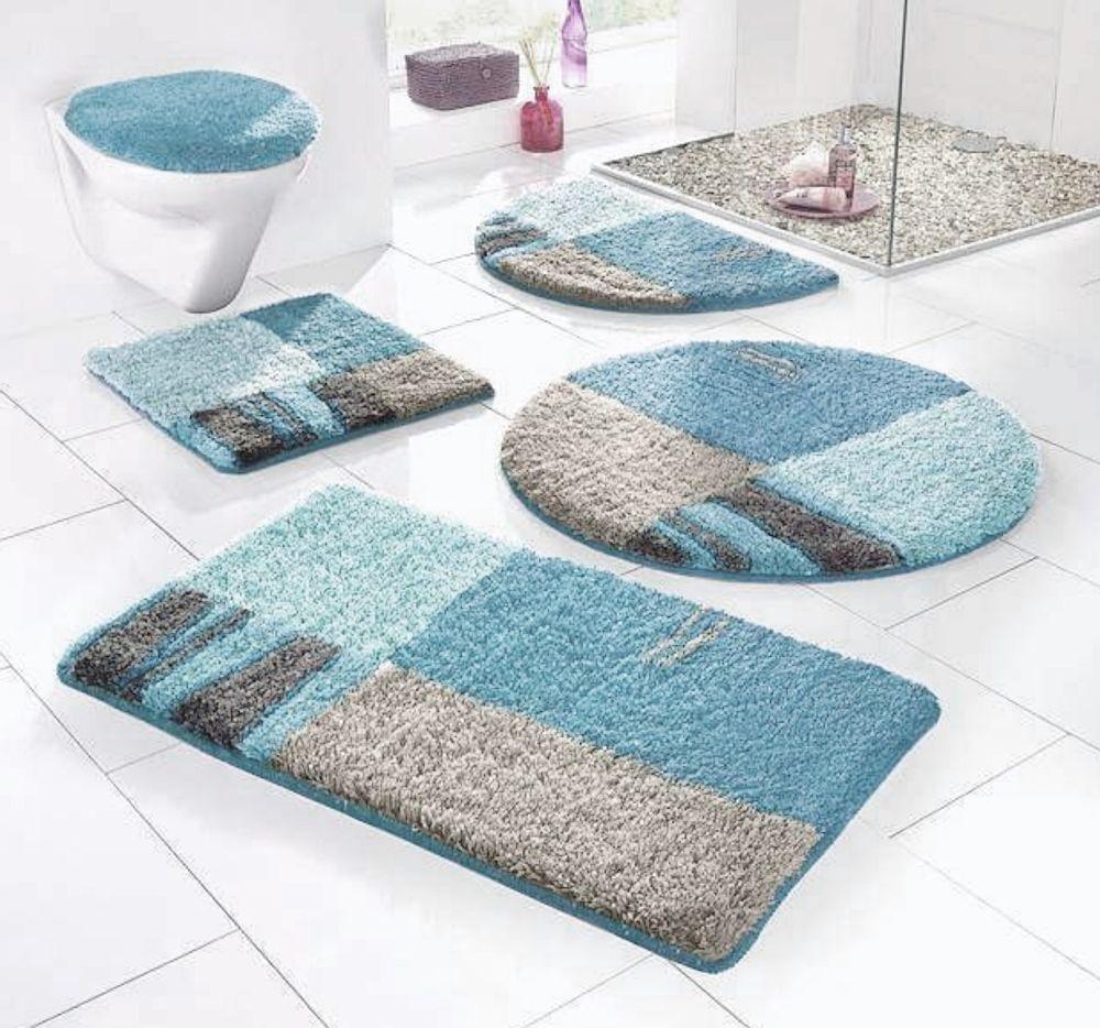 Badgarnitur 1 Oder 2 Tlg My Home Türkis Modern Waschbar Verschiedene  Variationen. Badezimmer VorlegerBäder ...