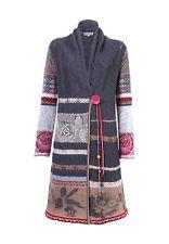 erstaunlicher Preis großer Lagerverkauf Los Angeles IVKO Strickmantel Mantel 42 XL NEU folklore Strickjacke grau ...