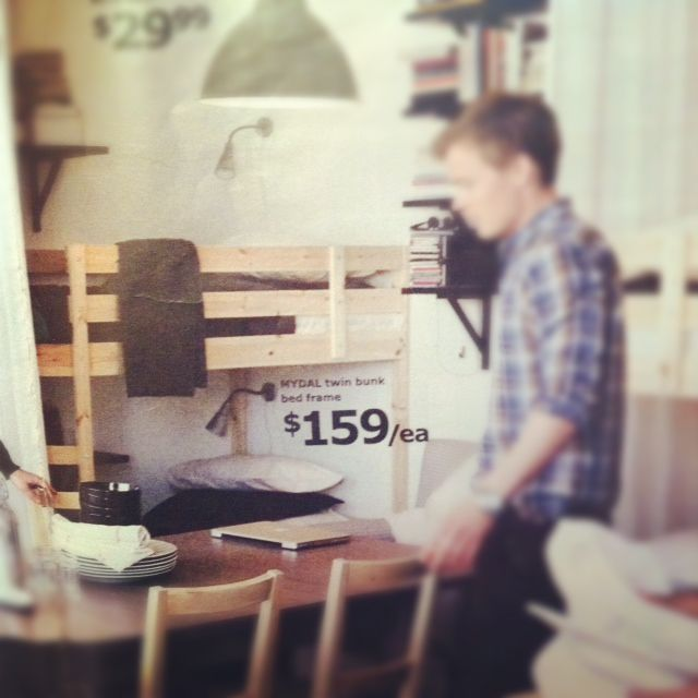 Bunk Bed Frames. photo from Ikea Catalog.
