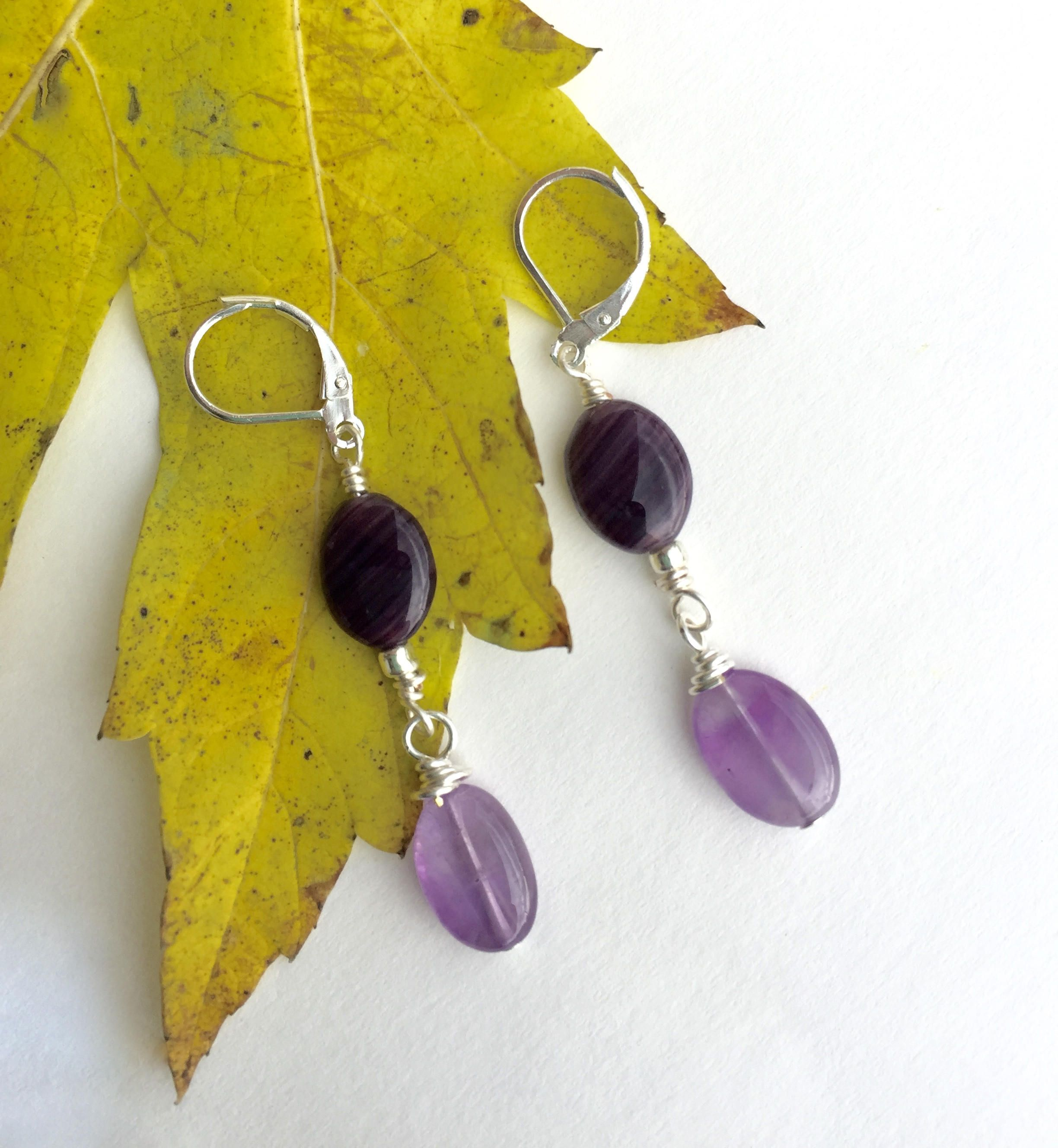 Amethyst Earrings, Purple Earrings, Lever Back Earrings, https ...