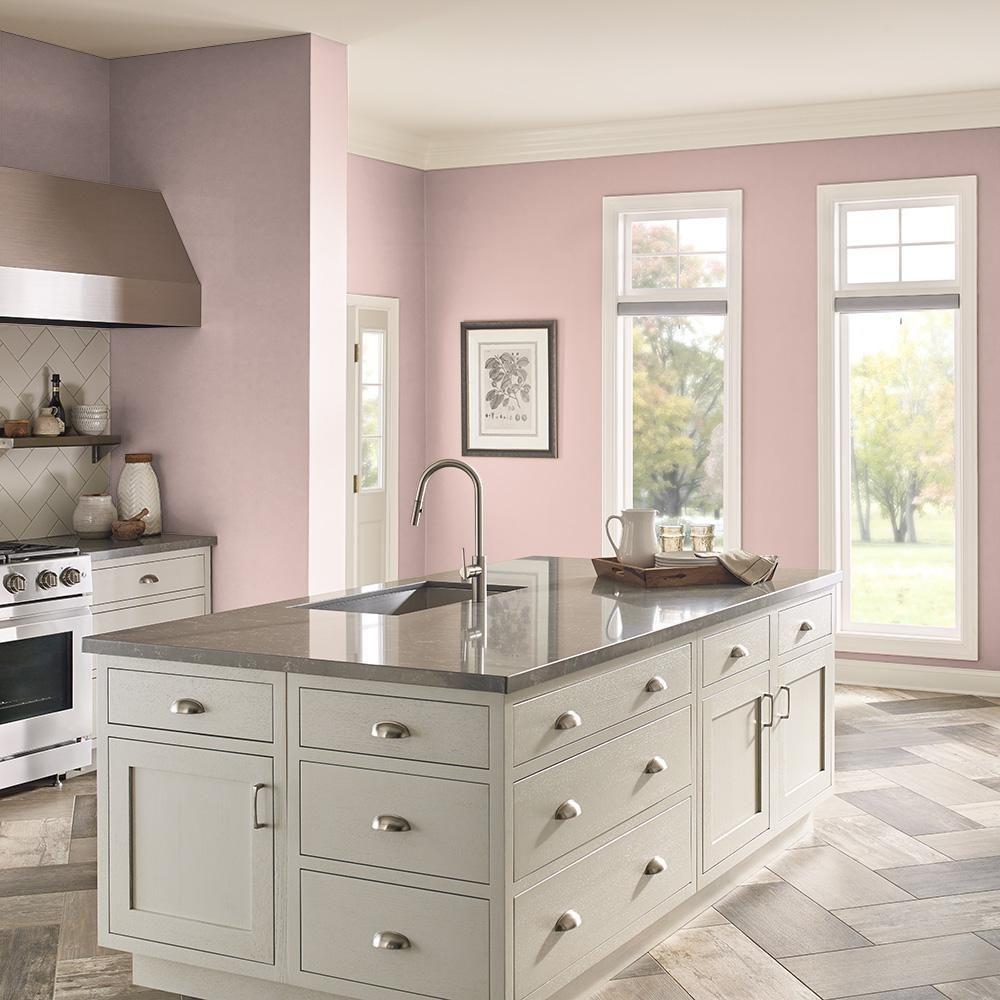 Behr Ultra 1 Qt S160 2 Pink Quartz Extra Durable Semi Gloss Enamel Interior Paint Primer 375004 The Home Depot Interior Paint Kitchen Paint Colors Kitchen Colors
