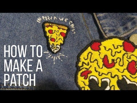 Diy Custom Embroidered Patches 3 Techniques No Sew Youtube Diy Patches Embroidery Diy Patches Custom Embroidered Patches