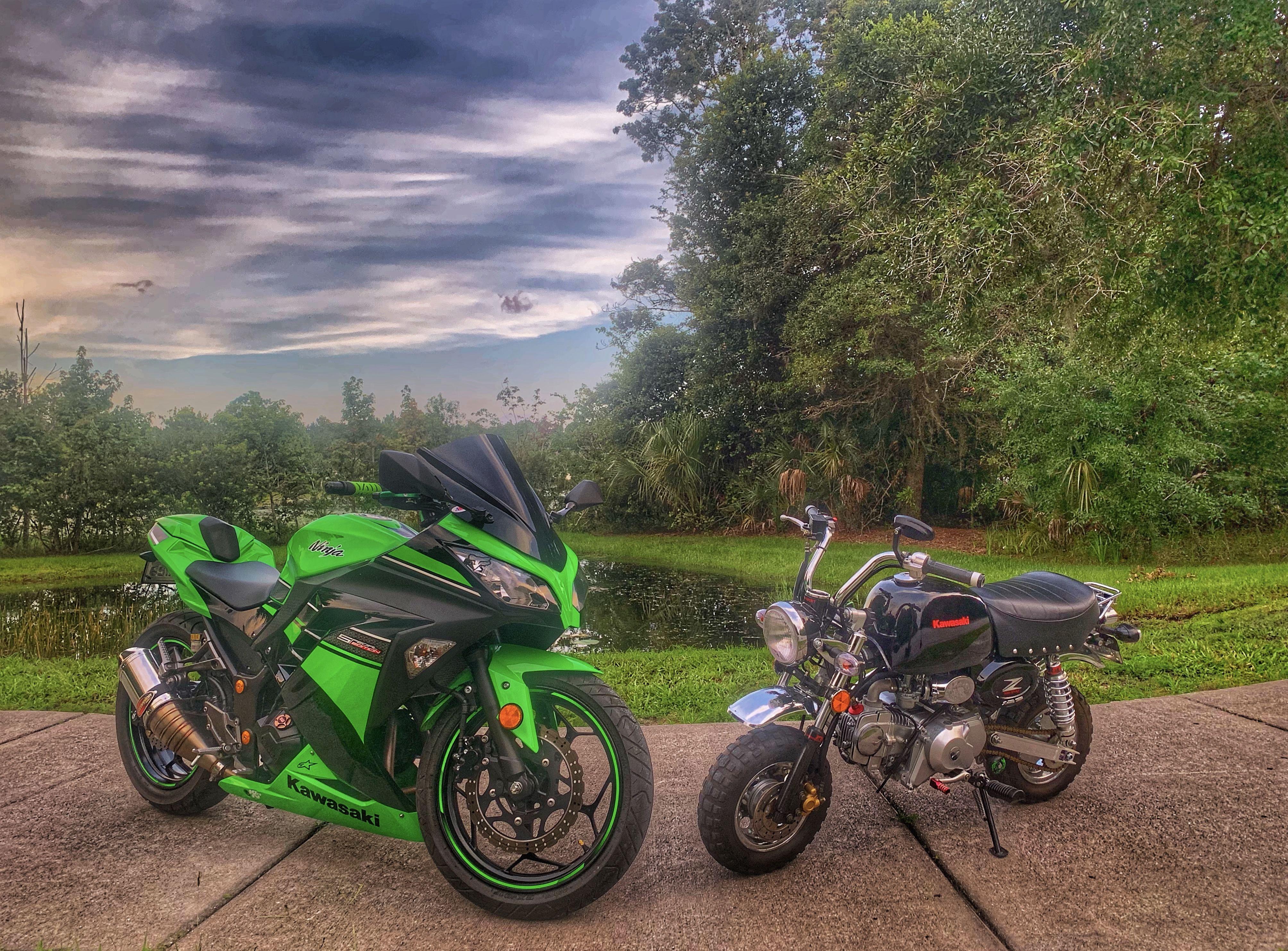 2013 Kawasaki Ninja 300 And 2014 Monkey Bike 125 Kawasaki Ninja 300 2013 Kawasaki Ninja 300 Kawasaki Ninja