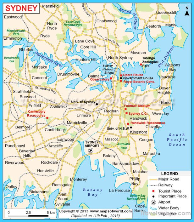 nice Map of Sydney Travelsmaps Pinterest Nice map Sydney and