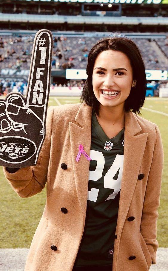 d7d8d604ed4 Demi Lovato, Nick Jonas Smile, Redskins Game, Selena, Idol, Metlife Stadium