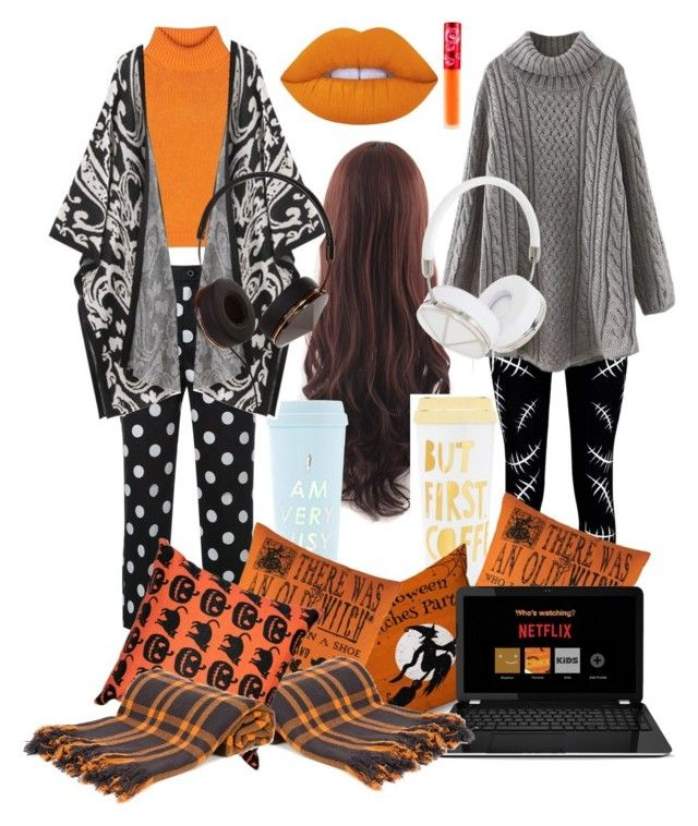 """""""Halloween over night for two plz"""" by colors-and-nerdyness on Polyvore featuring ban.do, Boohoo, Guild Prime, Acne Studios, Denis Colomb, Pillow Decor, Frends and Lime Crime"""