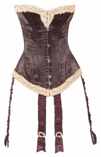Outstanding c1909 Black Silk Satin Corset