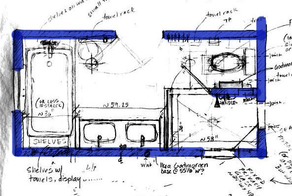 Bathroom Floor Plans Long Narrow have you remodeled or do you have a long narrow master bath
